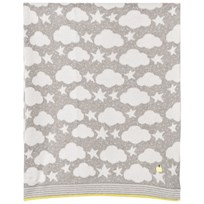 The Bonnie Mob Stars and Clouds Jacquard Baby Blanket Grey Greys