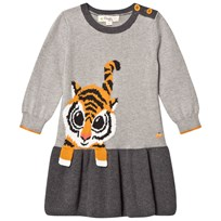 The Bonnie Mob Tiger Intarsia Dress Greys Greys