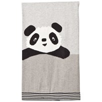 The Bonnie Mob Panda Intarsia Baby Blanket Grey Greys