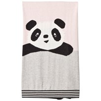 The Bonnie Mob Panda Intarsia Baby Blanket Pale Pink Pale Pinks