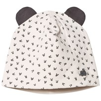 The Bonnie Mob Reversible Baby Beanie Hat, Aop Print Sand Sand
