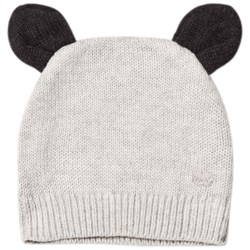 The Bonnie Mob Knitted Hat with Ears Light Grey