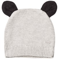 The Bonnie Mob Knitted Hat with Ears Light Grey Pale Grey