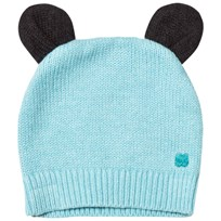 The Bonnie Mob Knitted Hat with Ears Pale Blue Pale Blue