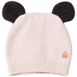 The Bonnie Mob Knitted Hat with Ears Pale Pink