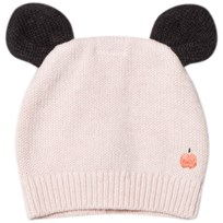 The Bonnie Mob Knitted Hat with Ears Pale Pink Pale Pinks