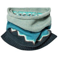 The Bonnie Mob Chunky Knitted Zig Zag Snood Blue