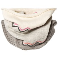 The Bonnie Mob Chunky Knitted Zig Zag Snood Pink Pinks