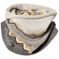 The Bonnie Mob Chunky Knitted Zig Zag Snood Grey Greys