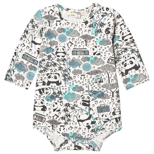 The Bonnie Mob Panda Print Baby Body Blue Panda Print Blues