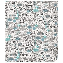 The Bonnie Mob Blanket, Aop Print Panda Print Blues Panda Print Blues