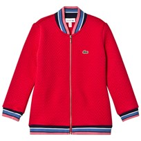 Lacoste Red Quilted Bomber Jacket DPE