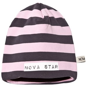Image of Nova Star Beanie Fleece Lining Striped Light Pink S (1-2 år) (2743819233)