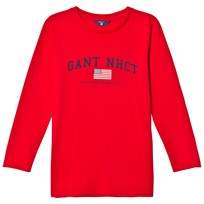 Gant Red NHCT Logo Long Sleeve Tee 620