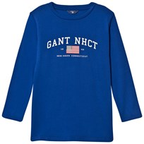 Gant Blue NHCT Logo Long Sleeve Tee 435