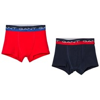 Gant 2 Pack of Red and Navy Branded Trunks 610