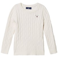 Gant Cable Knit Sweater Eggshell Eggshell