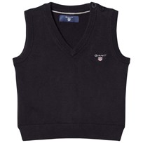 Gant Navy V Neck Knit Vest 405