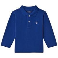 Gant Blue Shield Long Sleeve Pique Polo 435