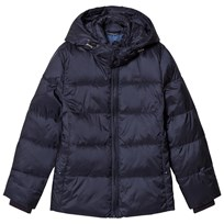 Gant Navy Puffer Coat with Detachable Hood 405