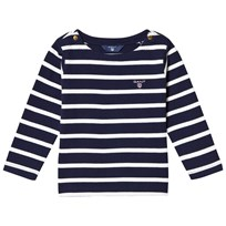 Gant Navy Stripe Boat Neck Jumper 433