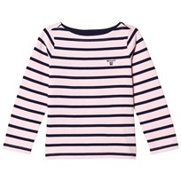 Gant Pink and Navy Stripe Boat Neck Jumper 637