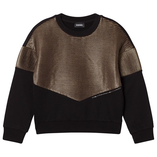 Diesel Black and Gold Knit Sweaters K900