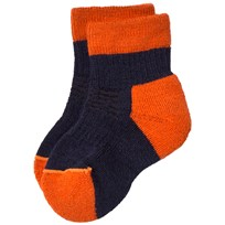 Lindberg Fotingen Ankel Sock Navy/Orange Navy/Orange