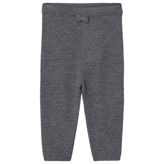 Hust&Claire Knitted Pants Antracite Melange Antracite Melange