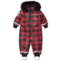 The BRAND Coverall Checked Red with Black Fur Checked Red With Black Fur