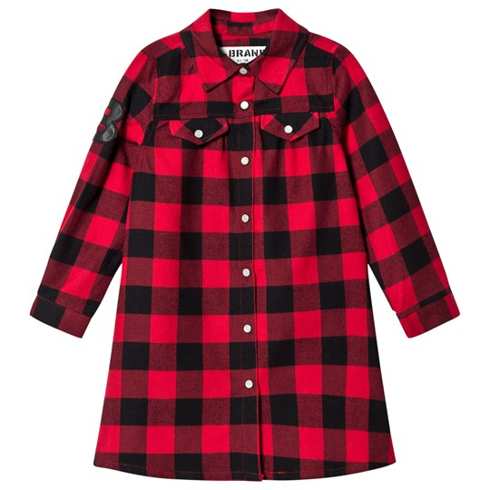 The BRAND Dress Red Checked Flannel Red Chacked Flanell