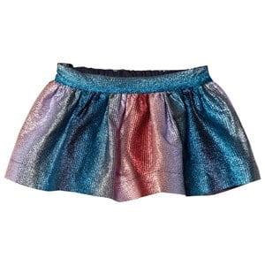Image of No Added Sugar Pink/Blue Lurex Stripe Skirt 3 years (2805093473)