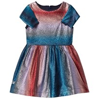 No Added Sugar Pink and Blue Lurex Stripe Dress LIGHTENING FAST LUREX STRIPE