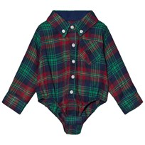 Andy & Evan Navy Red Green Plaid Flannel Shirtzie NVG NVG