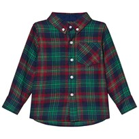 Andy & Evan Navy Red Green Plaid Flannel Shirt NVG NVG