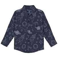 Andy & Evan Navy Galaxy Print Shirt NVE NVE