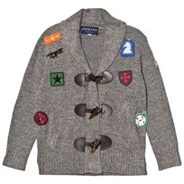 Andy & Evan Grey Patches Toggle Cardigan GYR GYR