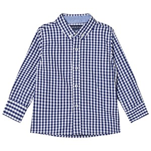 Image of Andy & Evan Navy/White Gingham Button Down Shirt 2 years (2743766147)