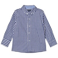 Andy & Evan Navy/White Gingham Button Down Shirt Navy