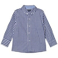 Andy & Evan Navy and White Gingham Button Down Shirt Navy