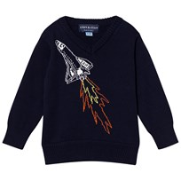 Andy & Evan Navy Spaceship Sweater NVB NVB