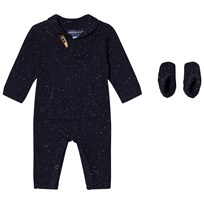 Andy & Evan Navy Slub Toggle Romper NVD NVD
