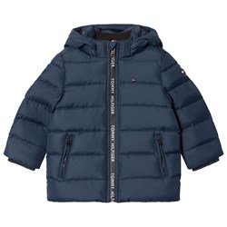 Tommy Hilfiger Navy Down Hooded Jacket