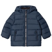 Tommy Hilfiger Navy Down Hooded Jacket 431