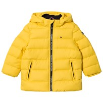 Tommy Hilfiger Yellow Down Hooded Jacket 710