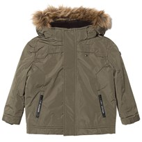 Tommy Hilfiger Khaki Padded Hooded Jacket 301