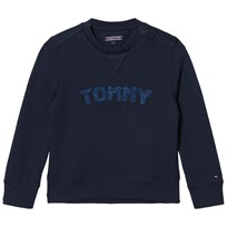 Tommy Hilfiger Navy Branded Sweatshirt 431