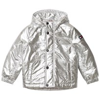 Tommy Hilfiger Silver Hooded Padded Parka 009