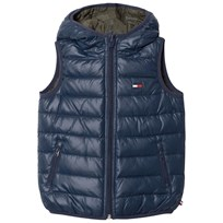 Tommy Hilfiger Blue Reversible into Khaki Down Gilet 431