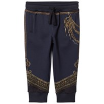 Dolce & Gabbana Navy Military Regalia Print Sweat Pants HBD31